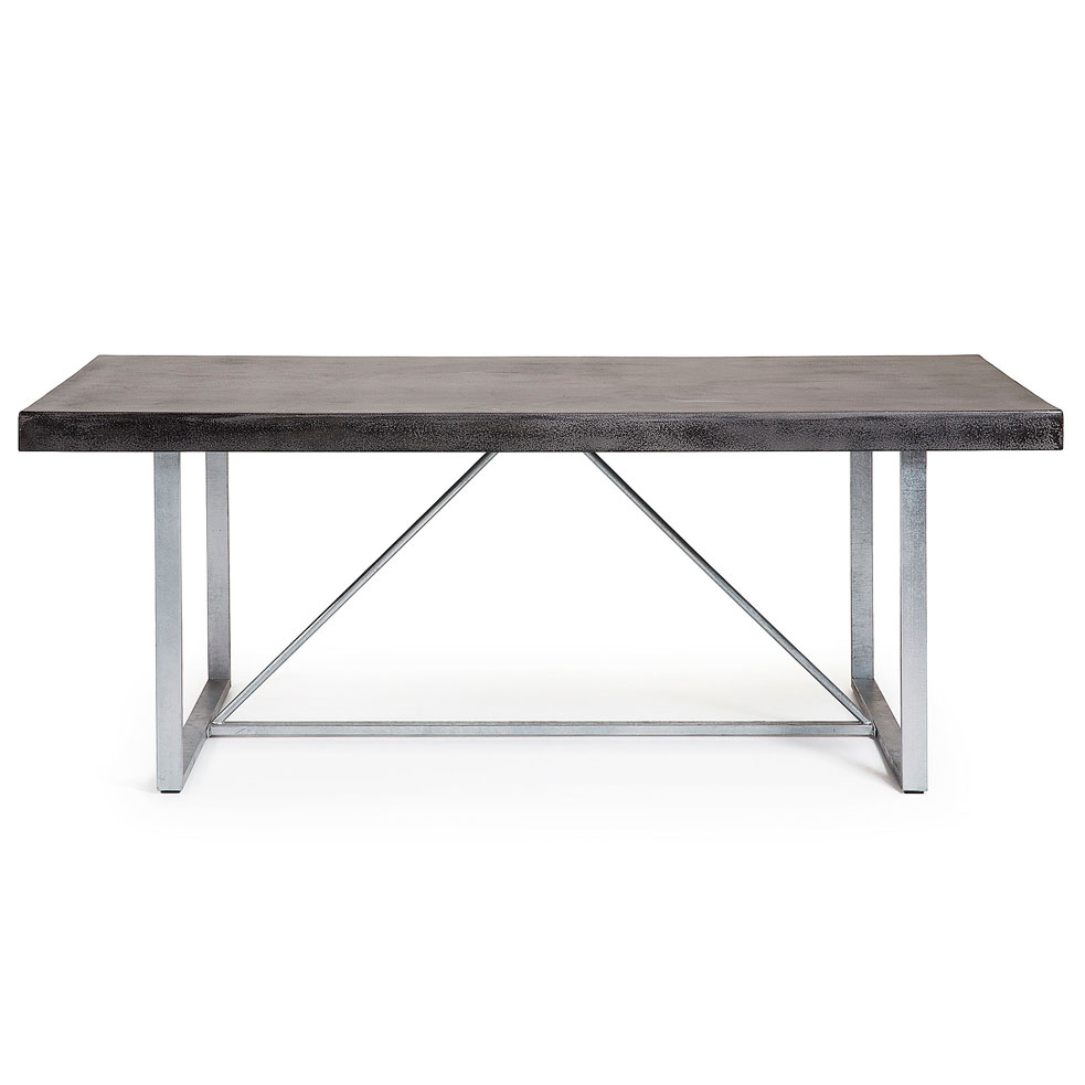 Alford table 200x100 metal poly cement dark grey juli grup for Table 200x100