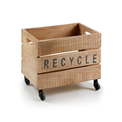 The wooden container YCER also asks you for it: Please, RECYCLE!