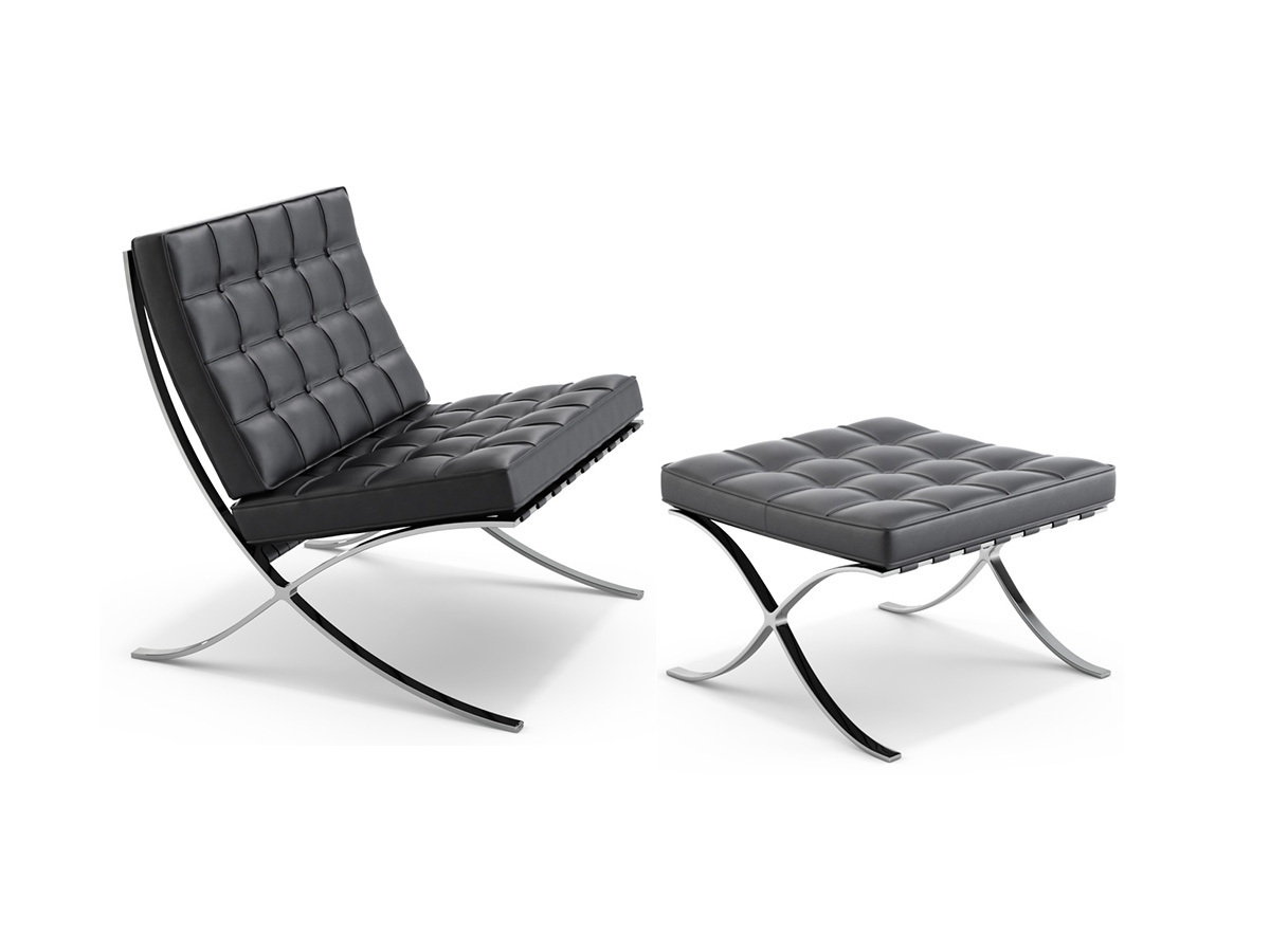 Design Furniture Barcelona Chair By Ludwig Mies Van Der Rohe